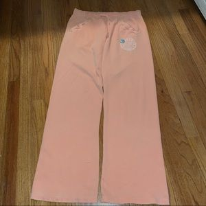 Peach colored pink sweats